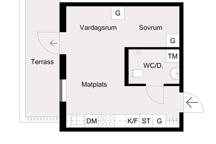 Bild: 1 rum bostadsrätt på Härnevi skolväg 9, Upplands-Bro kommun Gamla Bro