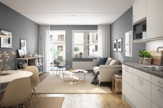 Bild: 2 rum bostadsrätt på Falkenbergsgatan 4 B, Göteborgs kommun Södra centrum