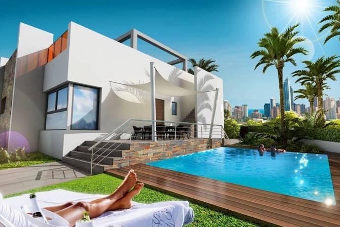 Bild: 3 rum villa på Nya villor med havsutsikt  B382, Spanien Benidorm, Alicante, Costa Blanca