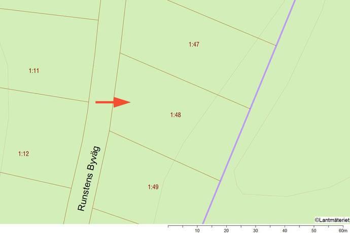 Bild: tomt på Runsten 1:48, Haninge kommun Runsten Village