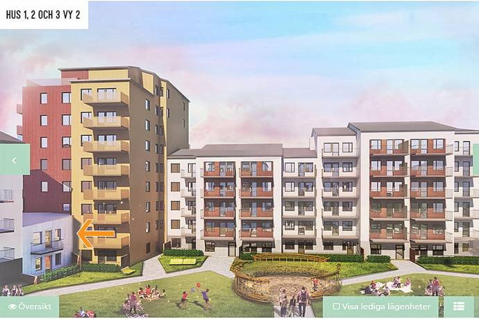 Bild: 2 rum bostadsrätt på Frestavägen 20, Sollentuna kommun Edsängen