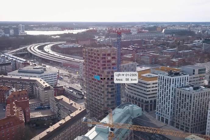 Bild: 2 rum bostadsrätt på Torsplan 8, plan 13 - Norra Tornen, Stockholms kommun Hagastaden Vasastan