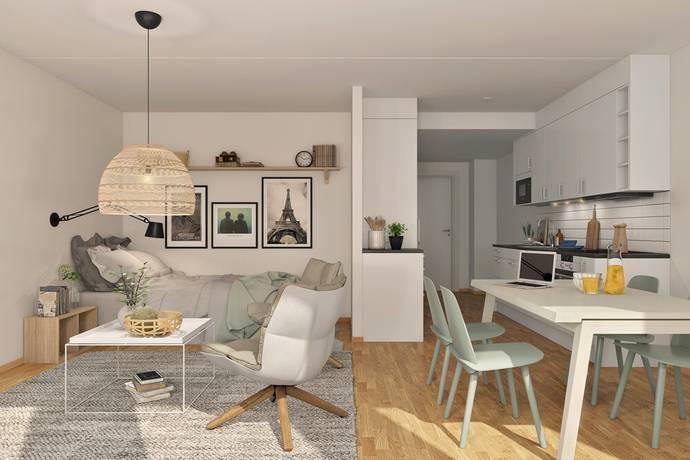 Bild: 1 rum bostadsrätt på Ingeborg Hammarskjölds Gata, Göteborgs kommun Kviberg