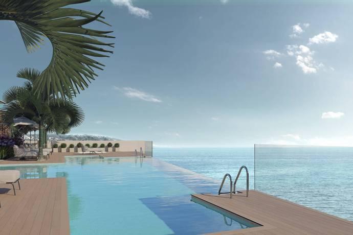 Bild: 2 rum bostadsrätt på Nyproduktion på första strandlinjen i stadskä, Spanien Estepona