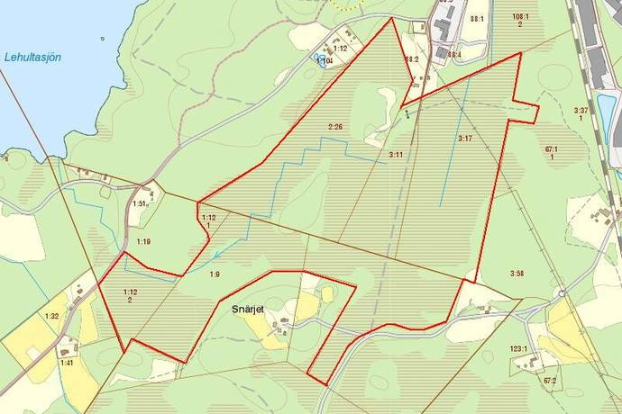 Bild: gård/skog, Hässleholms kommun Jaktfastighet - 70 ha