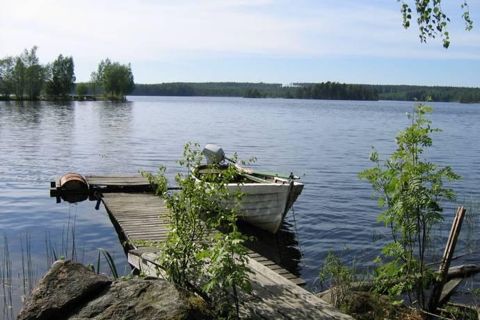 Bild: tomt på Sjönära tomt vid toften, Laxå kommun