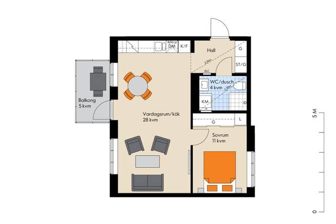Bild: 2 rum bostadsrätt på Viggengatan, Järfälla kommun Barkarbystaden