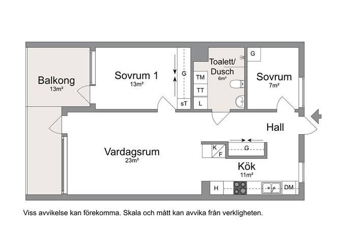Bild: 3 rum bostadsrätt på Holmtorpsvägen, Norrköpings kommun Södra Vrinnevi
