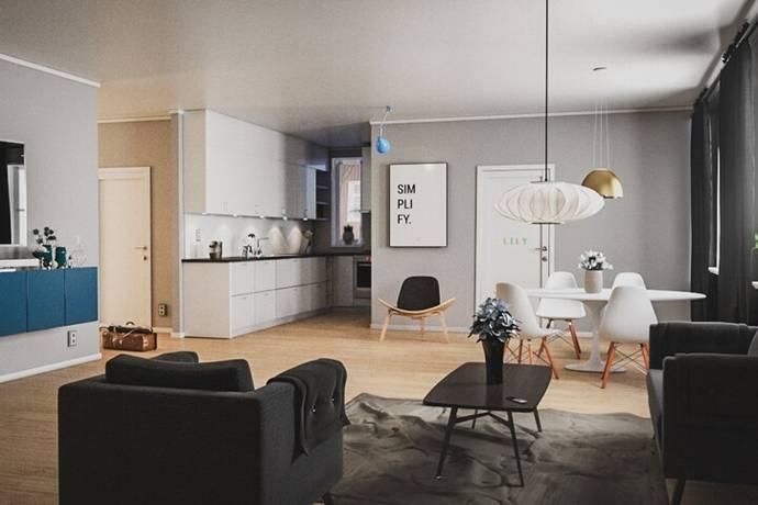 Bild: 3 rum bostadsrätt på Döbelnsgatan 7a, Umeå kommun Öst på stan