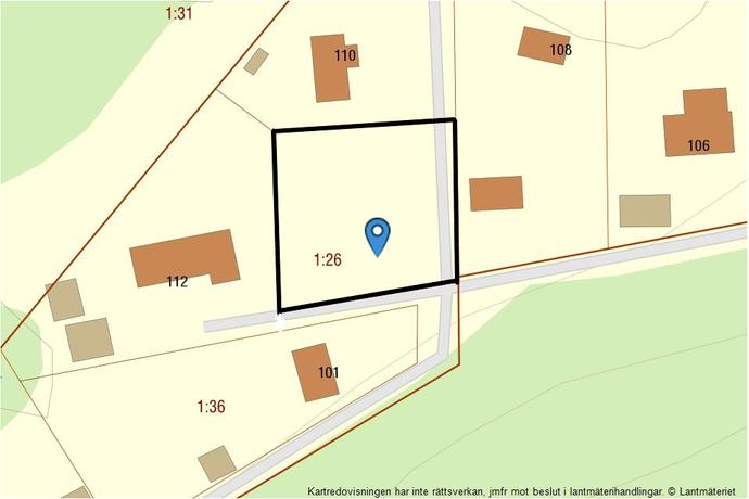 Bild: tomt på Håldalen 112, Stenungsunds kommun Kyrkenorum