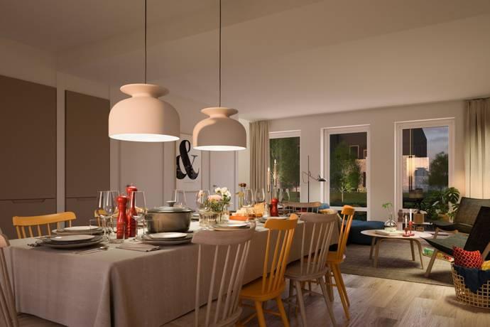 Bild: 5 rum bostadsrätt på Lyckos Norreholmshusen - etapp 1, Lunds kommun Södra Sandby