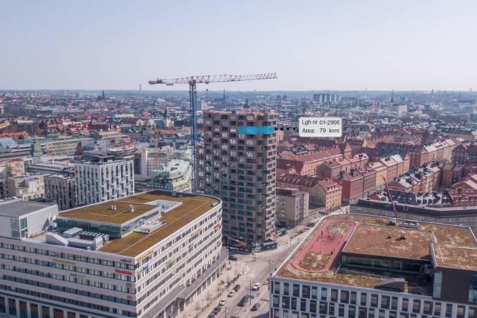 Bild: 3 rum bostadsrätt på Torsplan 8, plan 19 - Norra Tornen, Stockholms kommun Hagastaden Vasastan