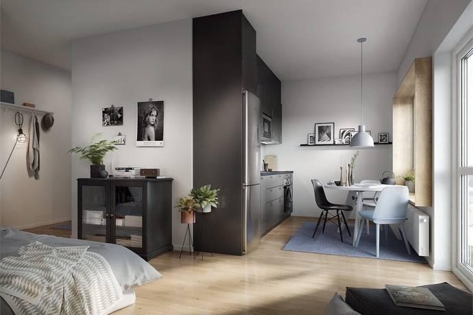 Bild: 1 rum bostadsrätt på Finalgatan 15, Lunds kommun Arenaparken