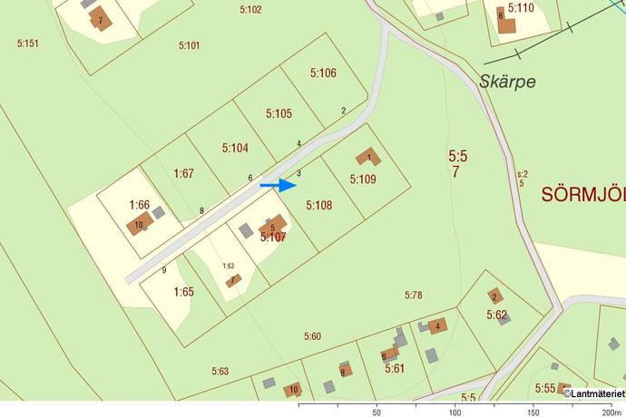 Bild: tomt på Släntvägen 3, Umeå kommun