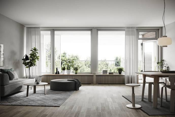 Bild: 4 rum bostadsrätt på Bergsvåg, LGH C2.2, Stockholms kommun Hjorthagen