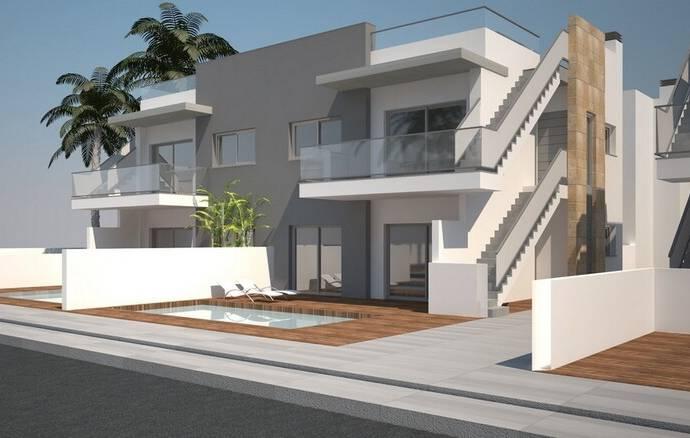 Bild: 98 m² villa på Moderna bungalows på övre eller botten, Spanien Torrevieja - Costa Blanca