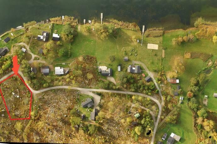 Bild: tomt på Gäddkroken 9, Hudiksvalls kommun