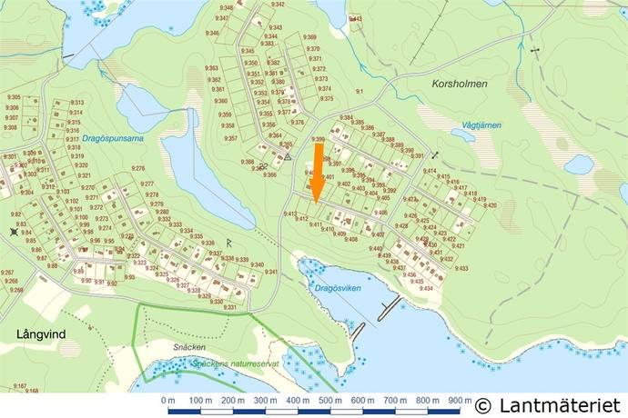 Bild: tomt på Dragösstigen 11, Hudiksvalls kommun LÅNGVIND