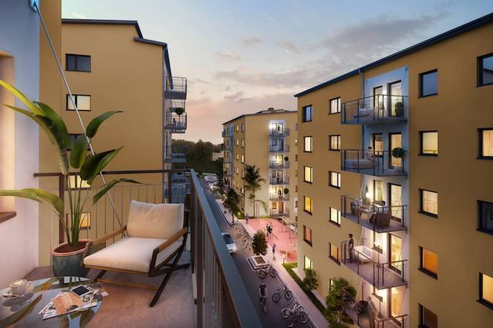 Bild: 2 rum bostadsrätt på Småbrukets Backe 12, 4 tr, Huddinge kommun Flemingsberg