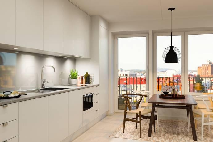Bild: 1 rum bostadsrätt på Gränsgatan 26, vån 5, Solna kommun Näckrosen-Råsunda