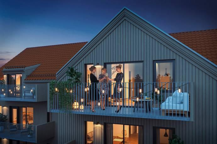 Bild från Brf Spinnaren i Öjersjö, nyproduktion på Långekärrsvägen 4-6 i Hossaberget!
