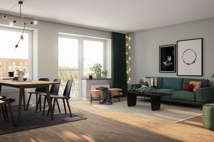 Bild: 3 rum bostadsrätt på Fyrklöversgatan 15, Göteborgs kommun Centrala Hisingen