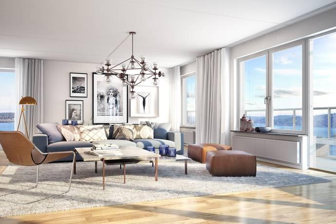 Bild: 4 rum bostadsrätt på Siloplatsen 10, Nacka kommun Kvarnholmen