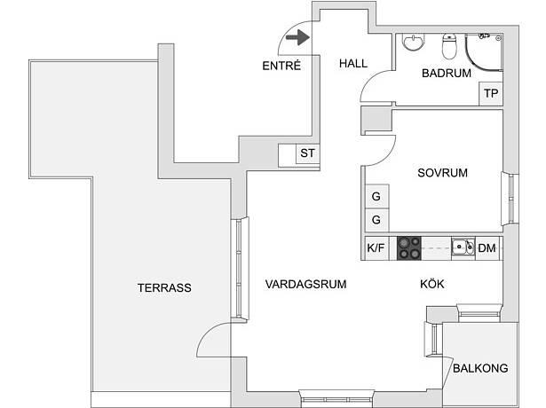Bild: 2 rum bostadsrätt på Sonja Kovalevskys Gata 8, 15 tr, Stockholms kommun Hagastaden Vasastan