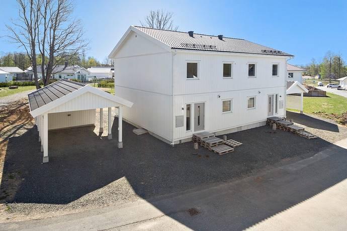 Bild: 5 rum radhus på Prästhagsgatan 9A (vänster), Eksjö kommun Prästhagen