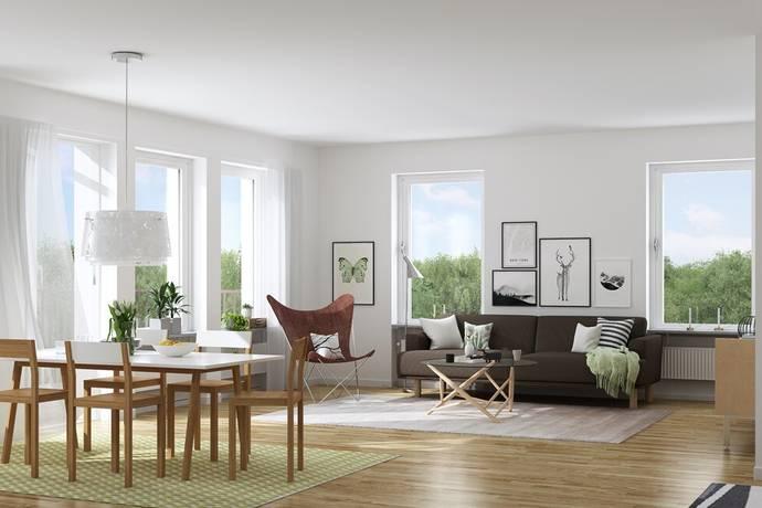 Bild: 4 rum bostadsrätt på Ahrenbergsgatan 12, Malmö kommun Bulltofta Friluftsstad