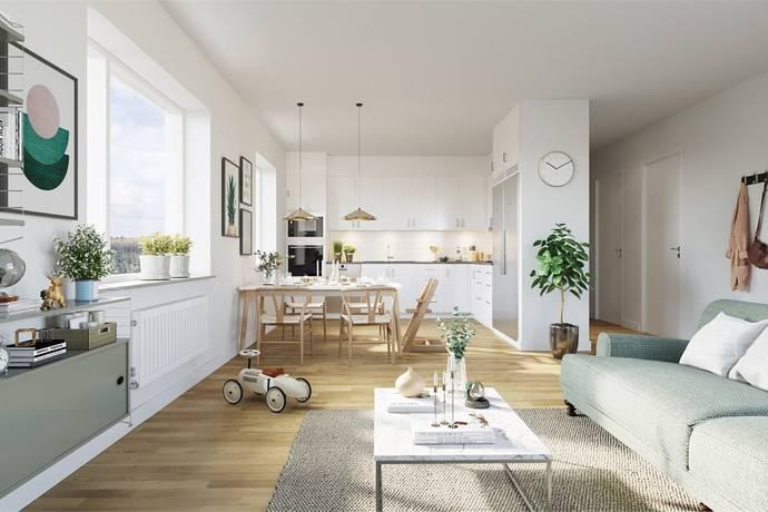 Bild: 3 rum bostadsrätt på Tellusgatan 41, Göteborgs kommun Bergsjön