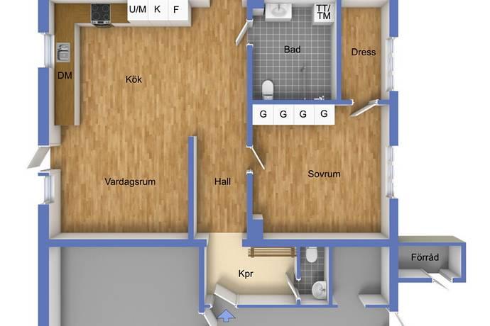 Bild: 3 rum bostadsrätt på Hägnevägen 4 A, Tidaholms kommun