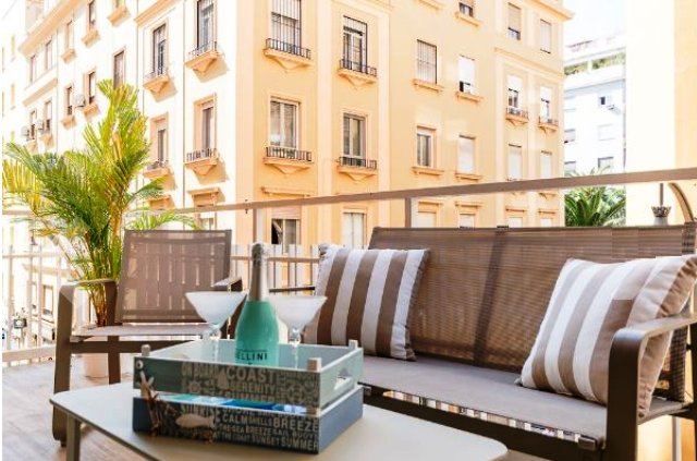 Bild: 3 rum bostadsrätt på Fräsch lägenhet i Soho med Balkong, Spanien Malaga - City