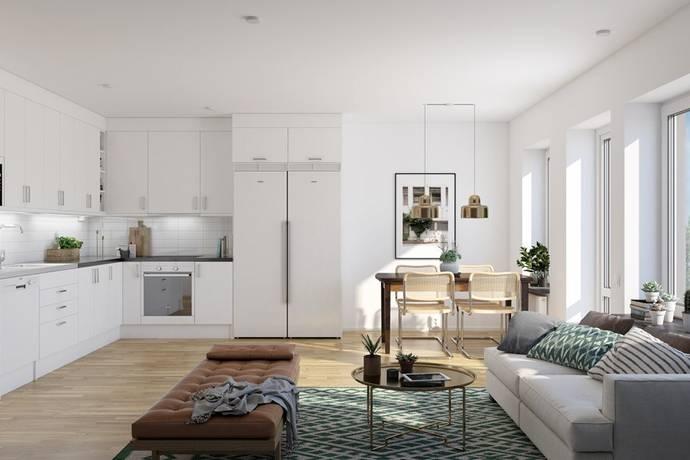 Bild: 3 rum bostadsrätt på Stenkvistavägen, Stockholms kommun Högdalen