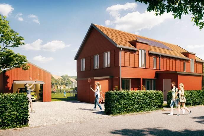 Bild: 4 rum radhus på Lalatoftsvägen 7 (tomt S24), Varbergs kommun Tvååker