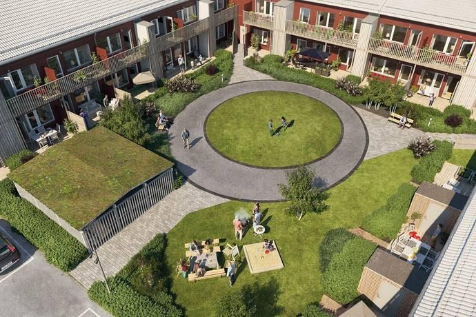 Bild: 2 rum bostadsrätt på Porfyrvägen 33, Kungsbacka kommun Kolla Parkstad