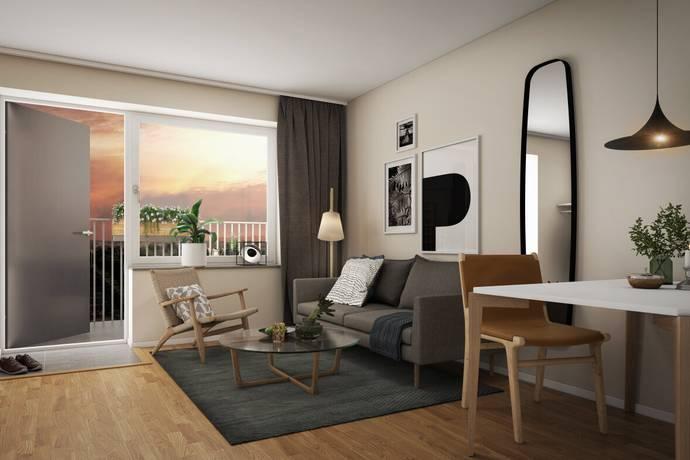 Bild: 2 rum bostadsrätt på Kubikvägen 1, Täby kommun Hägerneholm