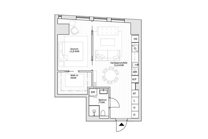 Bild: 2 rum bostadsrätt på Karlatornet, Göteborgs kommun Karlastaden