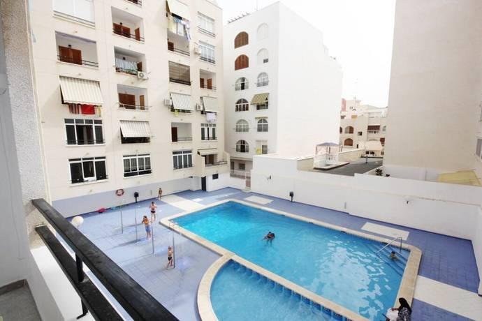 Bild: 1 rum bostadsrätt på 2 balkonger / Pool, Spanien Central Studio