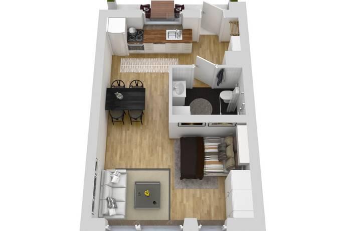 Bild: 1 rum bostadsrätt på Ätravägen 22A, 3tr, Stockholms kommun Bagarmossen
