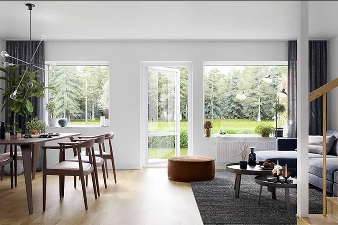 Bild: 4 rum radhus på Sjunningsfälten HUS 11, Mjölby kommun Östra