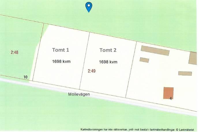 Bild: tomt på Möllevägen 8, Örebro kommun Kårsta