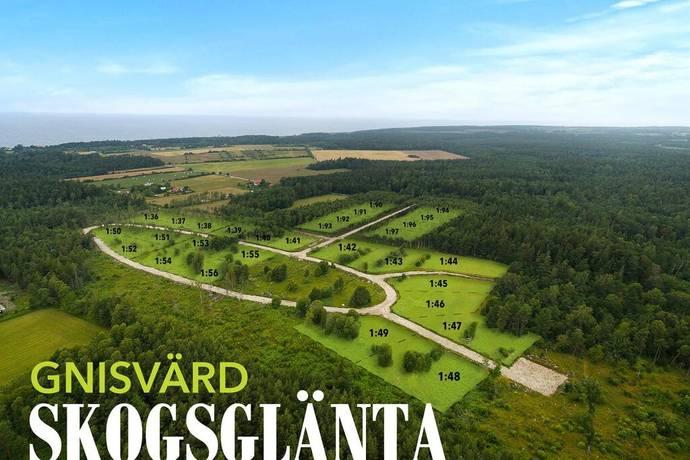 Bild: tomt på Gnisvärdsvägen 168 -220,, Gotlands kommun Gnisvärd Skogsglänta