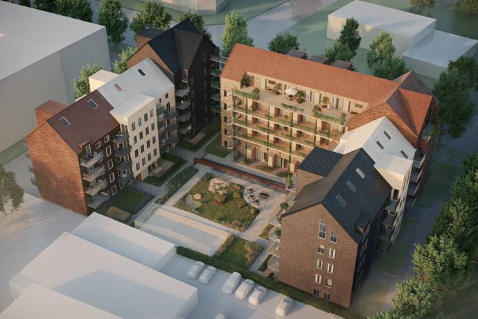 Bild: 1 rum bostadsrätt på Brf Stadsgården, Halmstads kommun Centrum