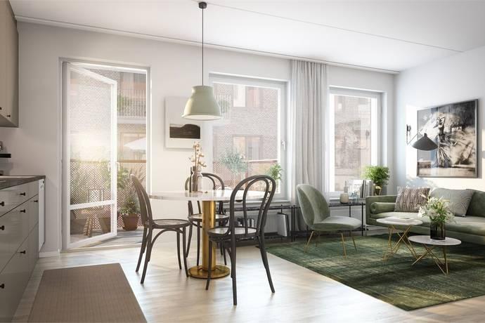 Bild: 1 rum bostadsrätt på Lilla Varvsgatan, Malmö kommun Dockan