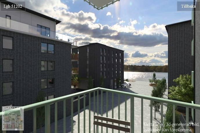 Bild: 2 rum bostadsrätt på Periskopvägen 4, 3 tr, Lidingö kommun Dalénum