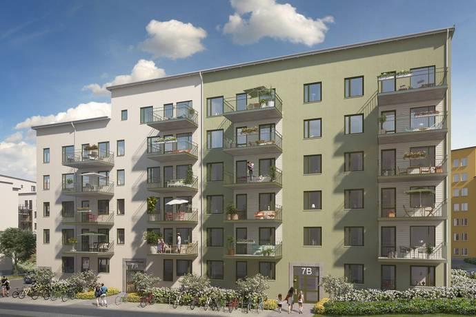 Bild: 3 rum bostadsrätt på Gimogatan 7B, Uppsala kommun Luthagen