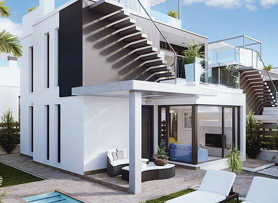 Bild: 4 rum villa på Moderna villor i attraktivt område, gem pool, Spanien Entré Golf sydväst Torrevieja