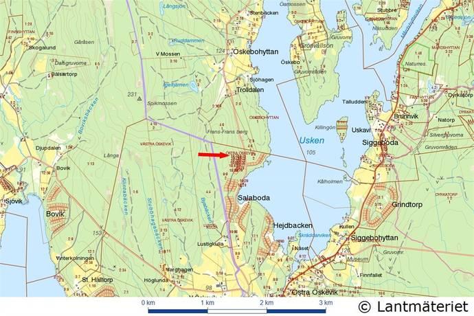 Bild: tomt på Östra Öskevik, Salaboda, Lindesbergs kommun