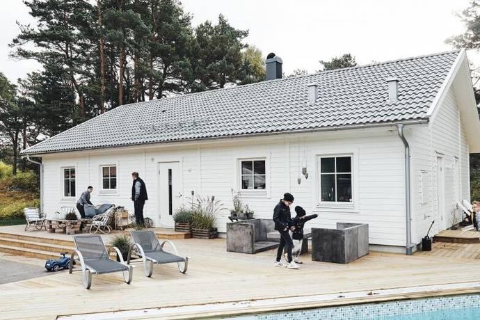 Bild: 4 rum villa på Björkbacken 1, Marks kommun